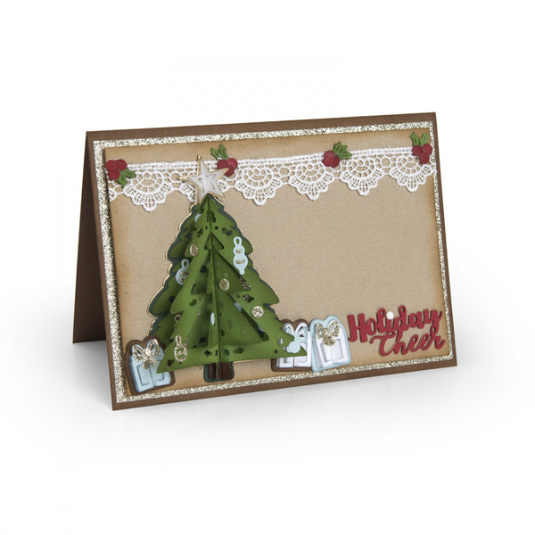 Sizzix Thinlits Dies By Katelyn Lizardi, 9/Pkg, Christmas Tree Flip And Fold