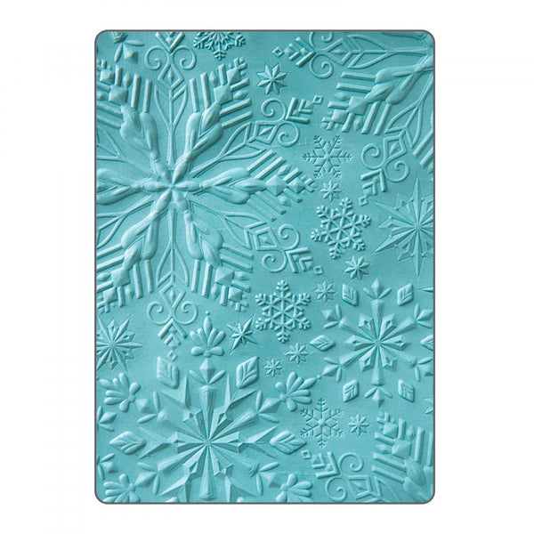 Sizzix 3-D Textured Impressions Embossing Folder by Katelyn Lizardi - Winter Snowflakes