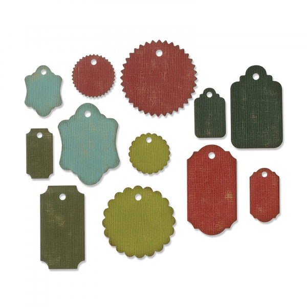 Sizzix, Tim Holtz Alteration, Thinlits Die Set, Gift Tags 12Pk - Scrapbooking Fairies