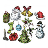 Sizzix Framelits Dies By Tim Holtz 12/Pkg, Tattered Christmas