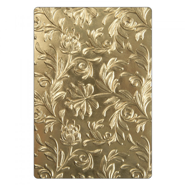 Sizzix 3D Texture Fades Embossing Folder By Tim Holtz, Botanical