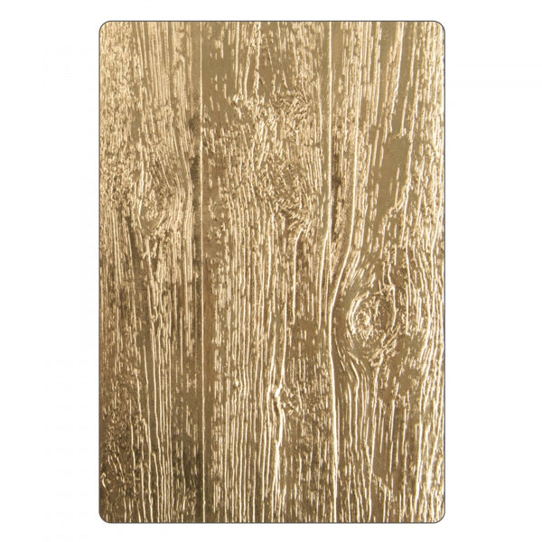 Sizzix 3D Texture Fades Embossing Folder By Tim Holtz, Lumber