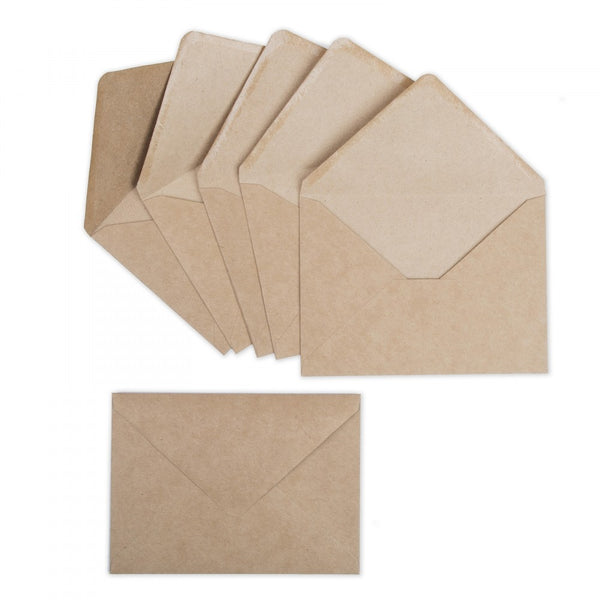 Sizzix Paper Envelopes A7 6/Pkg, Kraft