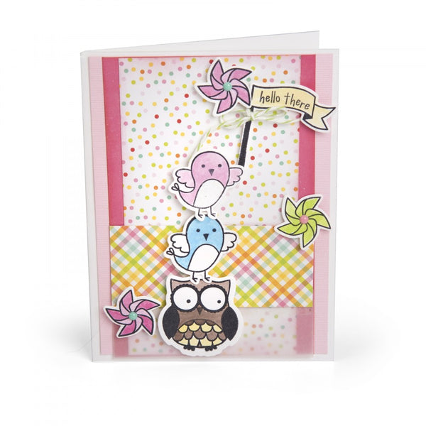 Sizzix Framelits Die & Stamp Set By Lori Whitlock, Celebration Critters