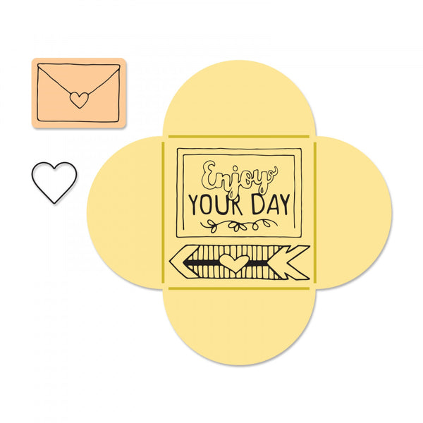 Sizzix. Framelits Die & Stamp Set By Katelyn Lizardi. Send A Note