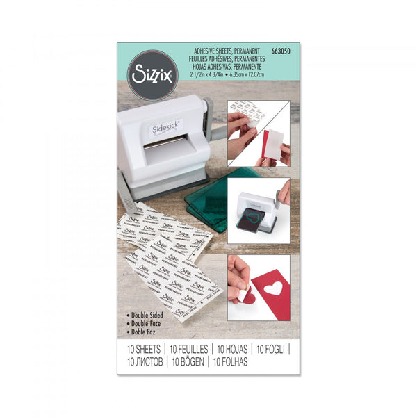"Sizzix Adhesive Sheets 2.5""X4.75"" 10/Pkg, Permanent"