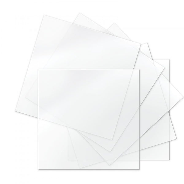 "Sizzix Thermoplastic Sheets - 6"" x 6"", Clear, 6 Sheets"