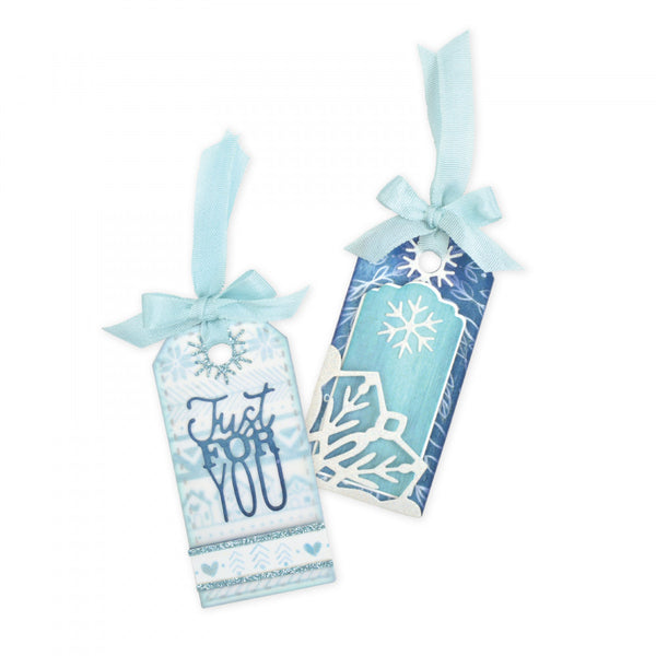 Sizzix Thinlits Dies By Katelyn Lizardi, 7/Pkg Tag W/Snowflakes