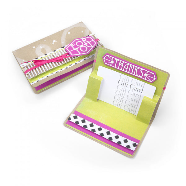 Sizzix Thinlits Dies By Lynda Kanase 8/Pkg, Gift Card Holder Pop-Up Card