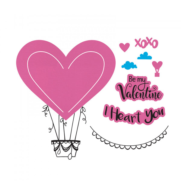 Sizzix Framelits Die & Stamp Set By Lindsey Serata 5/Pkg, I Heart You