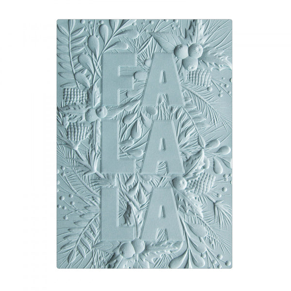 Sizzix 3-D Textured Impressions Embossing Folder by Courtney Chilson - Fa La La