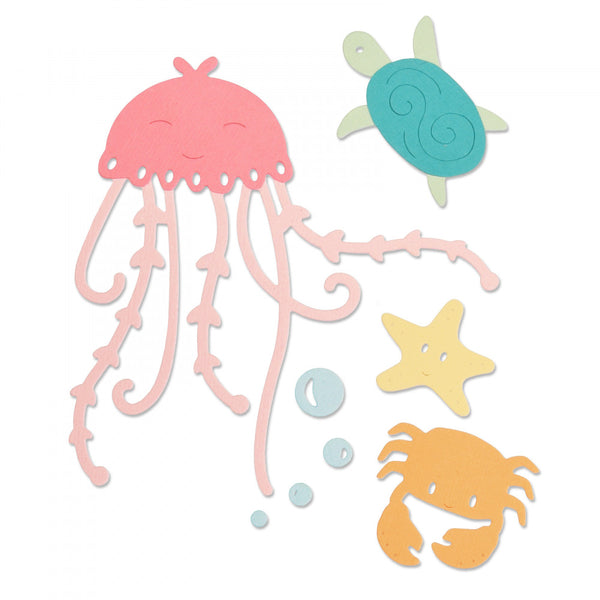 Sizzix Thinlits Dies By Olivia Rose 5/Pkg, Under The Sea