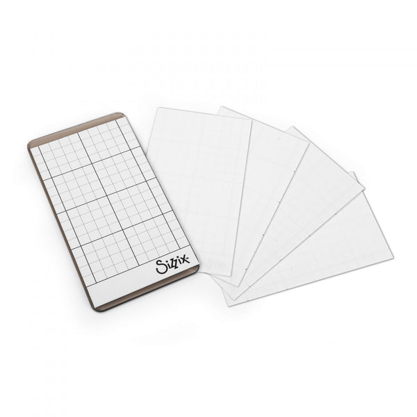 "Sizzix Sticky Grid Sheets 5/Pkg Inspired By Tim Holtz, 2.5""X4.5"""