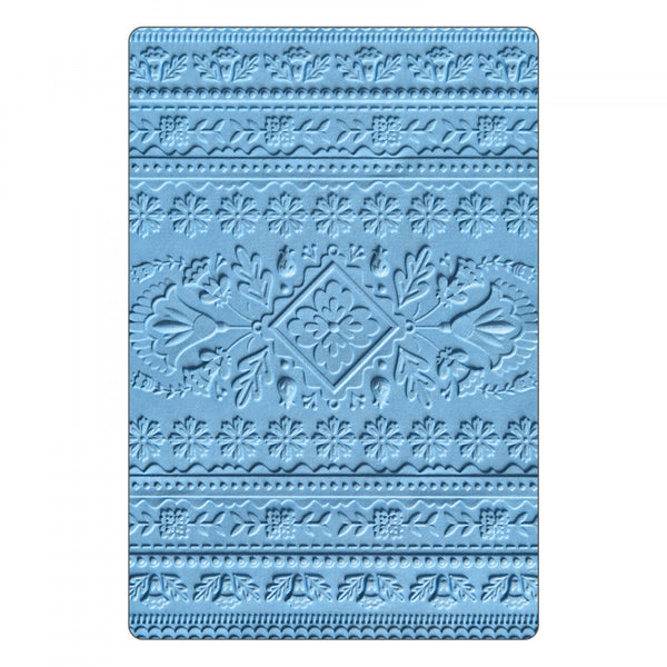 Sizzix 3D Textured Impressions Embossing Folder by Courtney Chilson, Folk Art Pattern