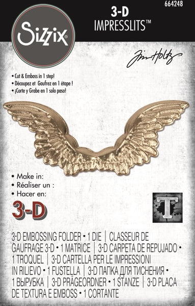 Sizzix 3D Impresslits Embossing Folder By Tim Holtz, Winged