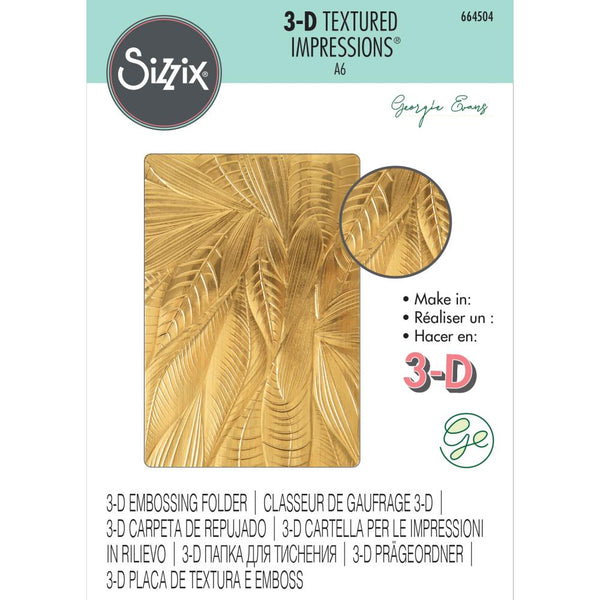 Sizzix 3D Textured Impressions By Georgie Evans, Fallen Leaves
