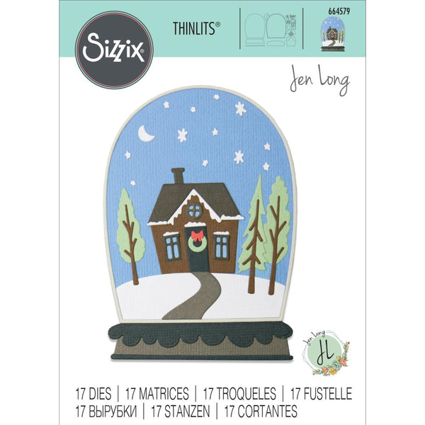 Sizzix Thinlits Dies By Jen Long 17/Pkg, Bell Jar Diorama