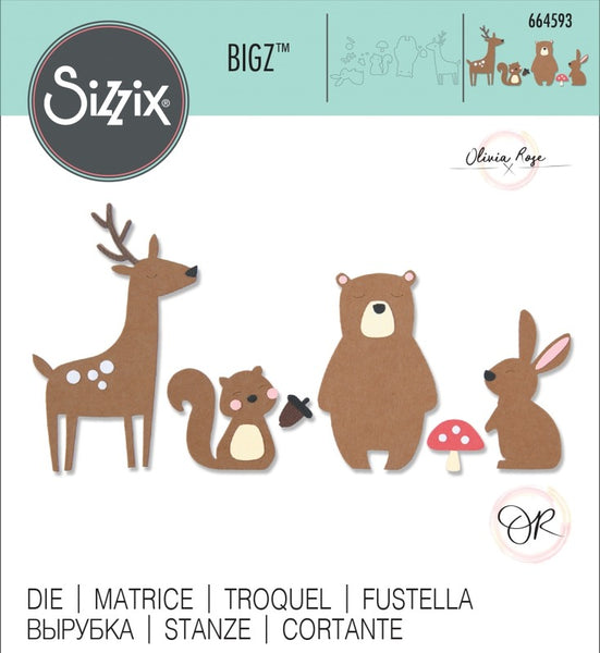 Sizzix Bigz Die By Olivia Rose, Forest Friends