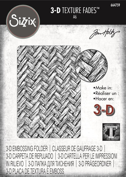 Sizzix 3D Texture Fades Embossing Folder By Tim Holtz, Intertwined