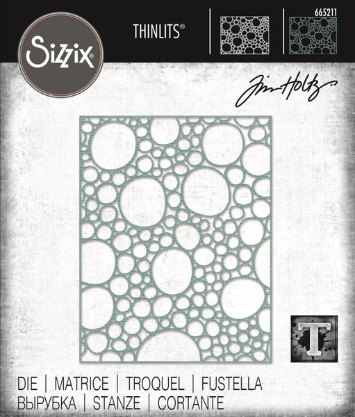 Sizzix Thinlits Die By Tim Holtz, Bubbling