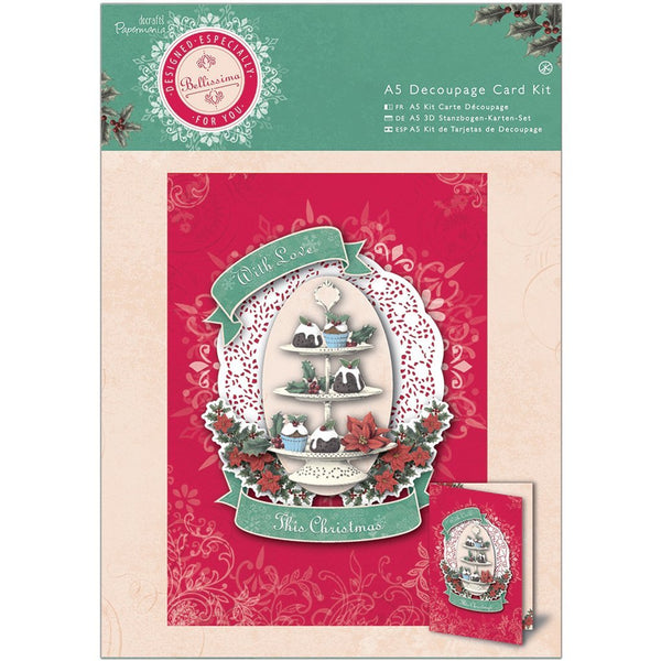 Papermania, A5 Decoupage Card Kit - Bellissima Christmas