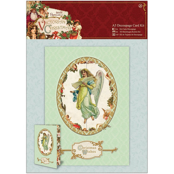 Papermania, A5 Decoupage Card Kit - Victorian Christmas