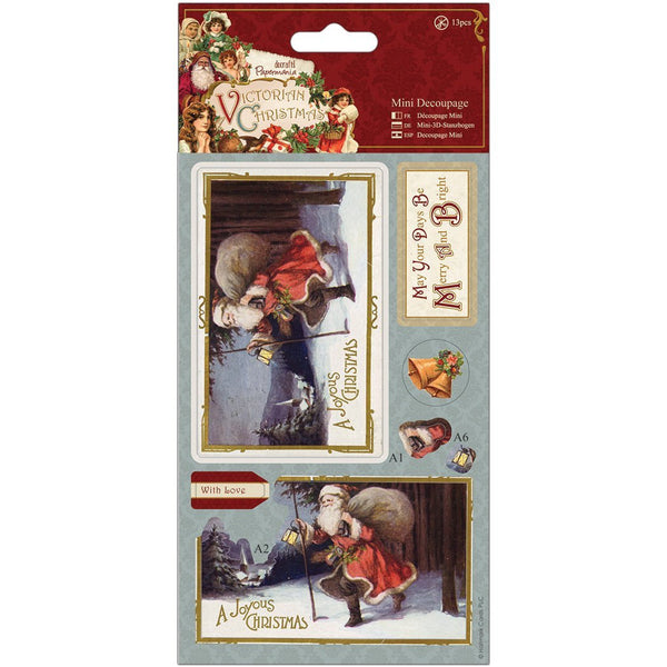Papermania, Victorian Christmas Mini Decoupage-Santa