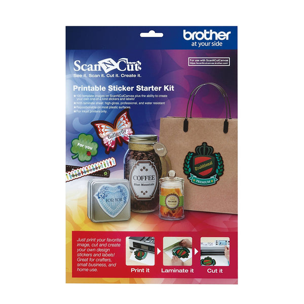 Brother ScanNCut, Printable Sticker Starter Kit - Scrapbooking Fairies