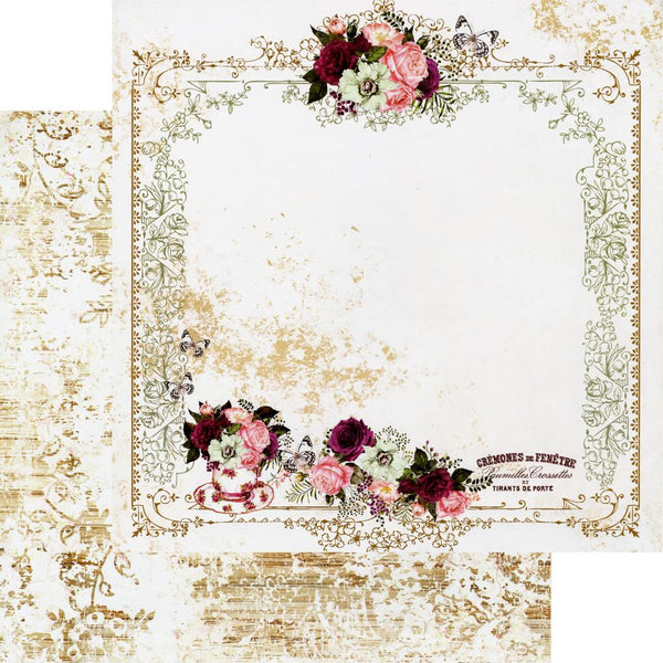 "Prima Marketing, Pretty Mosaic Double-Sided Cardstock 12""X12"", Tea & Roses"