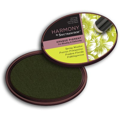 Crafter's Companion, Harmony by Spectrium Noir,  Opaque Pigment Ink Pad, Spring Meadow