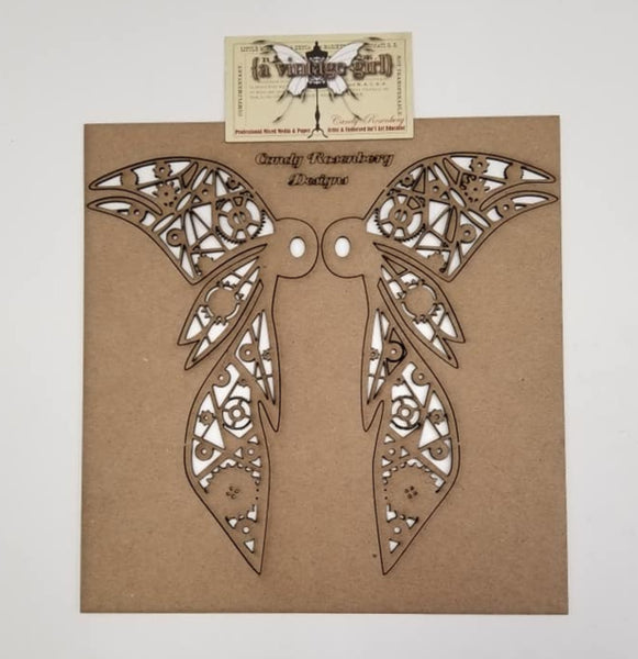 A Vintage Girl by Candy Rosenberg, Chipboard, 8 inches Wicked Wings