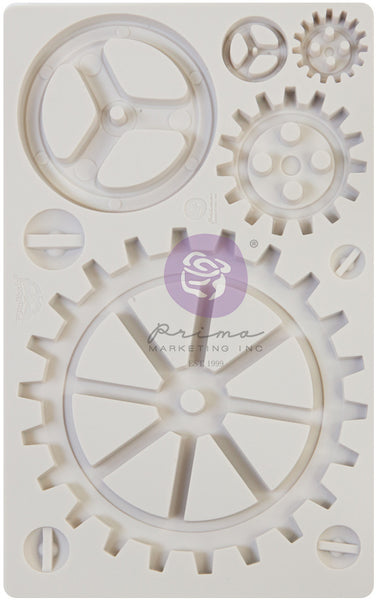 "Prima Finnabair Decor, Moulds 5""X8"", Large Gears"