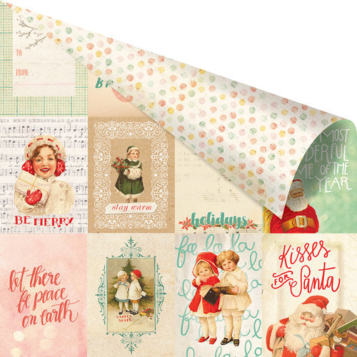 "Prima, Sweet Peppermint Double-Sided Cardstock 12""X12"" The Most Wonderful Time Of The Year"