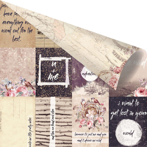 "Prima, Wild & Free Foiled Double-Sided Cardstock 12""X12"", Pretty Little Notes"