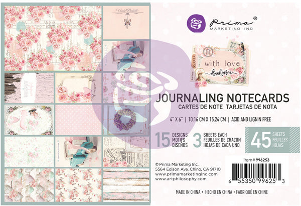 "Prima Marketing, With Love By Frank Garcia Journaling Cards 4""X6"" 45/Pkg,"
