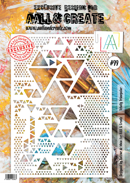 AALL & Create, A4 Stencil, #99, Totally Triangular, Designed by Autour de Mwa