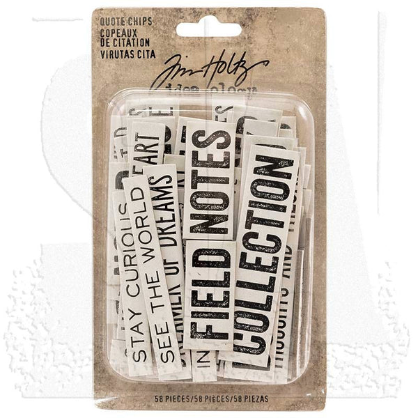 Advantus - Tim Holtz, Idea-ologies, Quote Chips - Scrapbooking Fairies