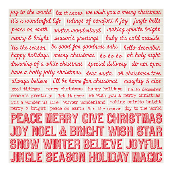 Christmas Words.Tim Holtz Idea Ology Chipboard Quote Chips 60 Pkg Christmas Words Phrases