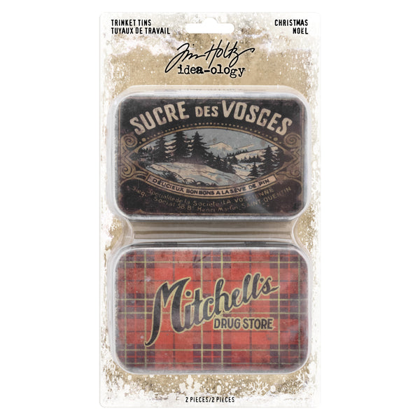 Tim Holtz Idea-Ology, Trinket Tins, Christmas