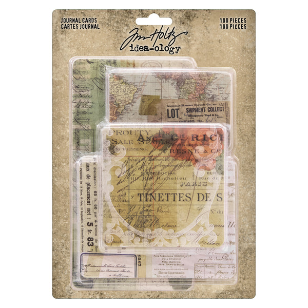 Tim Holtz Idea-Ology Journal Cards 100/Pkg