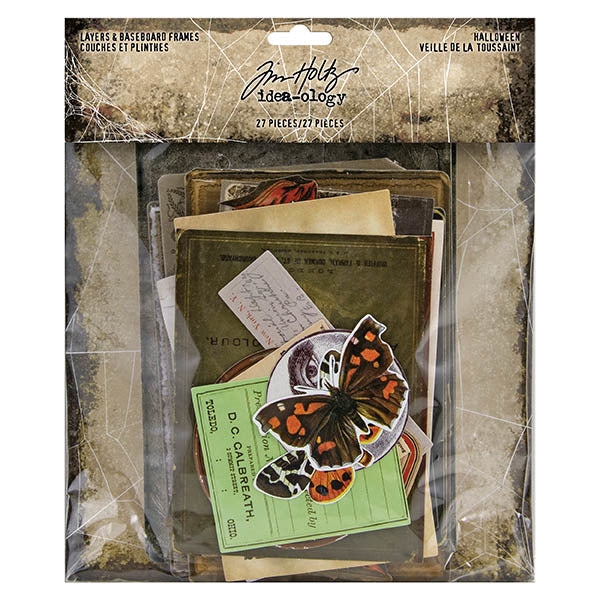 Tim Holtz Idea-Ology Layers & Baseboard Frames 27/Pkg, Halloween