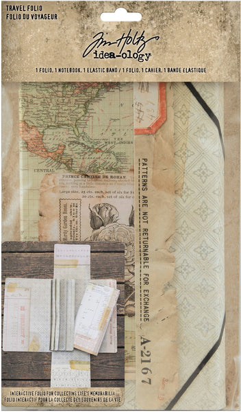 Tim Holtz, Idea-Ology Travel Folio, Folio, Notebook & Plastic Band