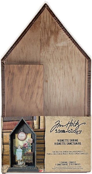 "Tim Holtz Idea-Ology Vignette Shrine 4.75""X9""X1.5"""