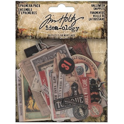 Tim Holtz Idea-Ology Ephemera Pack 68/Pkg, Halloween Snippets