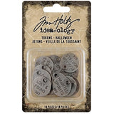 Tim Holtz, Idea-Ology Metal Quote Tokens 18/Pkg, Halloween
