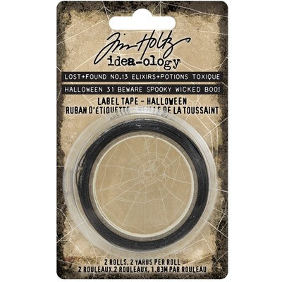 Tim Holtz Idea-Ology Label Tape 2/Pkg, Halloween