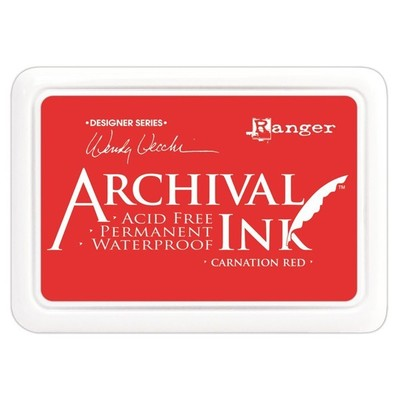 Wendy Vecchi Archival Ink Pad, Carnation Red