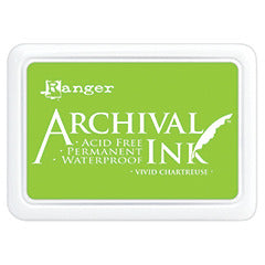 Ranger Archival Ink Pad, Vivid Chartreuse