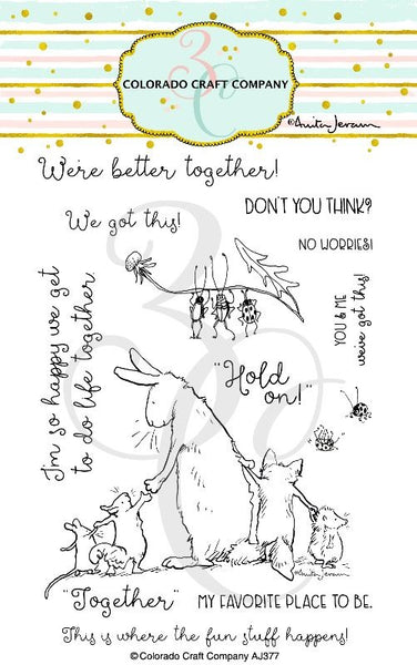 "Colorado Craft Company, Clear Stamps 4""X6"", Better Together-By Anita Jeram"