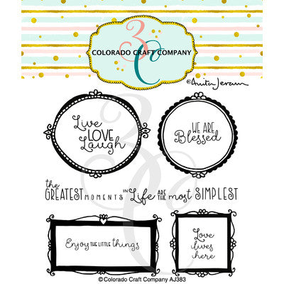 "Colorado Craft Company Clear Stamps 4""X4"", Wall Words-By Anita Jeram"